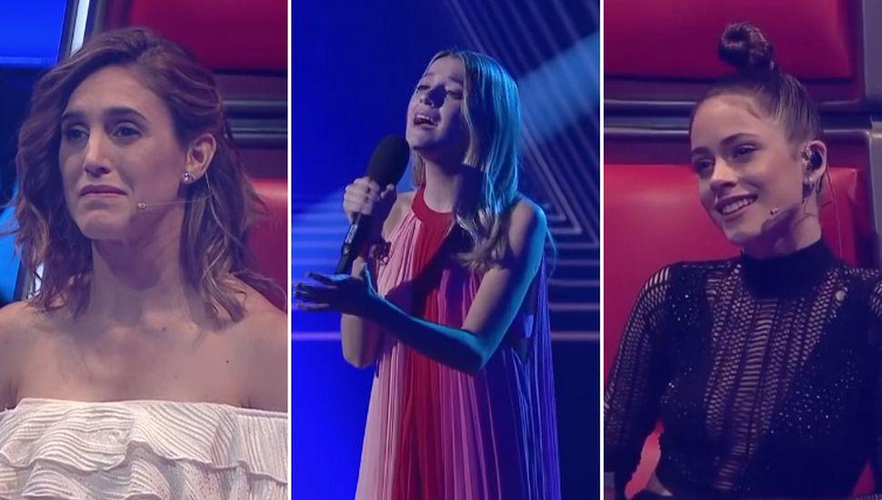 En el marco de una nueva gala de La Voz Argentina, el programa que conduce Marley por Telefé, la joven rojense Isabel Aladro (18) interpretó el tema