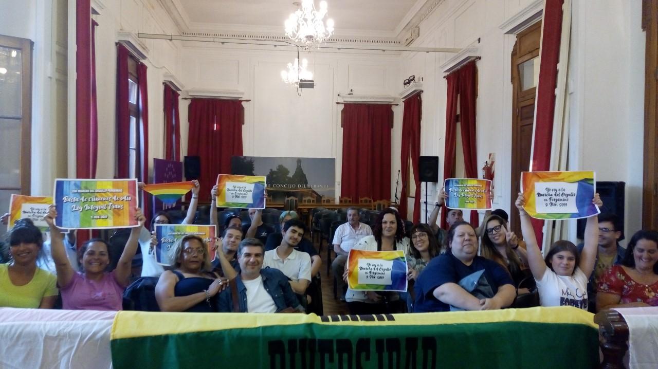 En la última sesión del Concejo Deliberante declararon de interés municipal a la segunda machar LGBTQ+ que se llevará a cabo en Pergamino.