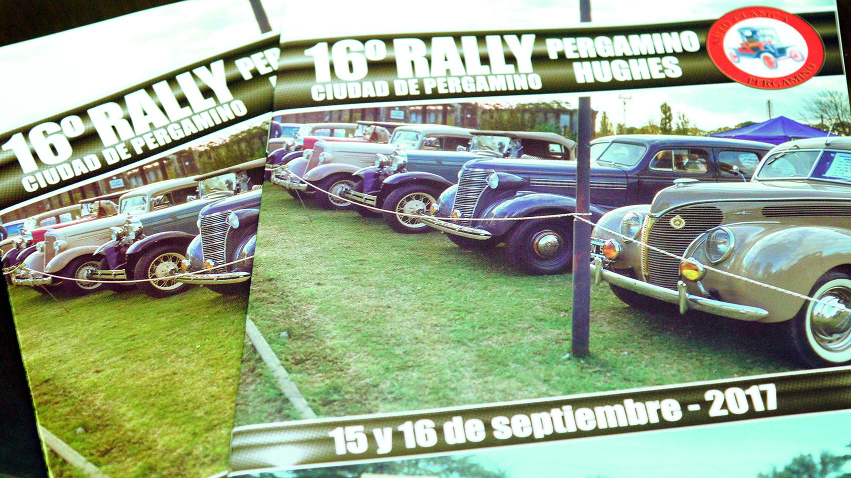 En la mañana de este lunes 11 de septiembre, en el Palacio Municipal, el subsecretario de Deportes, Agustín Buscaglia, presentó, junto a los integrantes de Autoclásica, el 16° Rally de Autos Clásicos Pergamino – Hughes que se llevará a cabo los días 15 y 16 de septiembre y que contará con autos desde los años ´20.