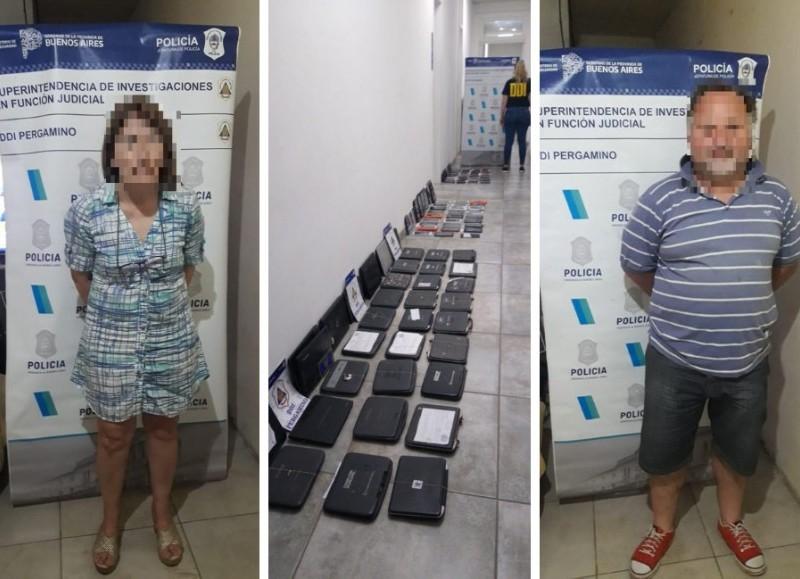 Los detenidos, de 51 y 54 años, tenían en su poder múltiples elementos electrónicos de dudosa procedencia.