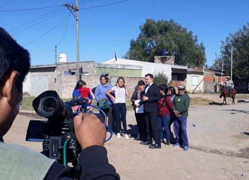 Medios nacionales en Villa Alicia.
