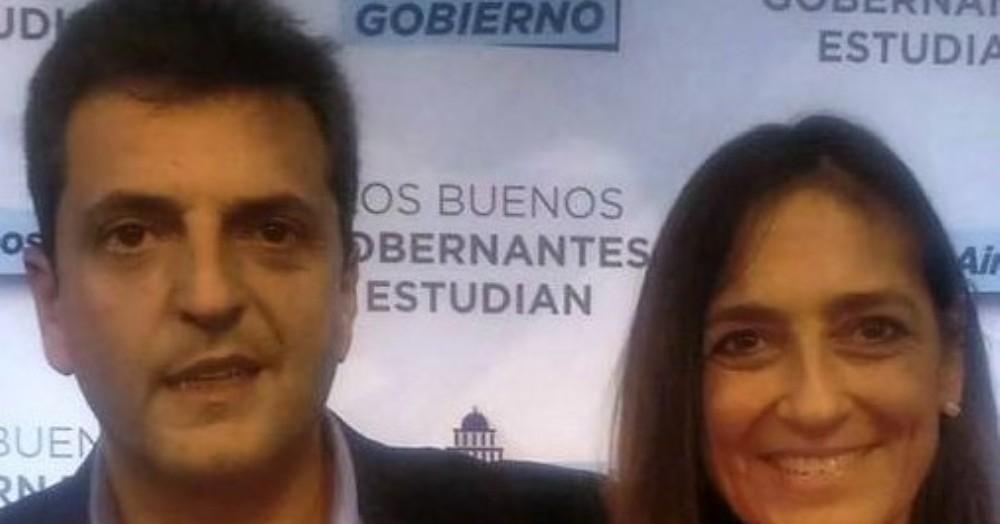 Sergio Massa y María de los Ángeles Conti.