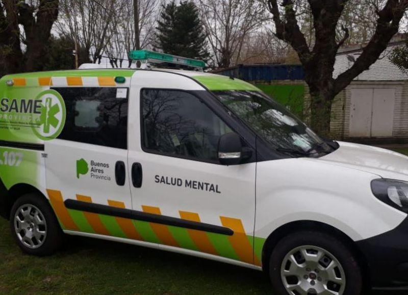 El Fiat Cubo que se suma a la flota de tres ambulancias que tiene el SAME en la ciudad.