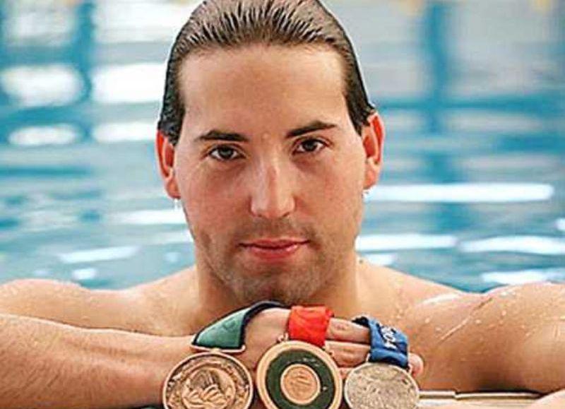 Guillermo Marro, un nadador paralímpico de la ciudad de Pergamino.