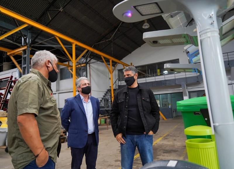 Conversó con emprendedores en el marco de las recorridas que está llevando a cabo por distintas localidades bonaerenses.
