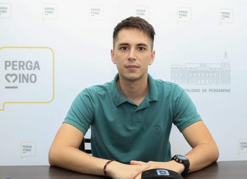 Eugenio Petinari, coordinador de Juventud.