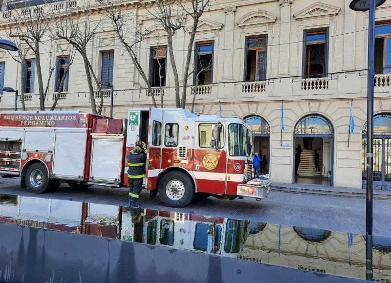 Intervención de los bomberos.