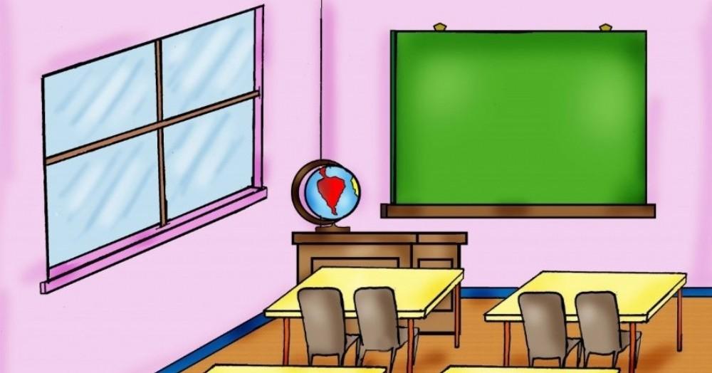 La Municipalidad de Pergamino piensa en la vuelta a clases presenciales. (Dibujo: NOVA)