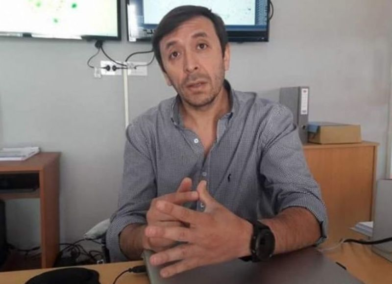 Miguel Ángel Núñez, secretario de Seguridad de la Municipalidad de Rojas.