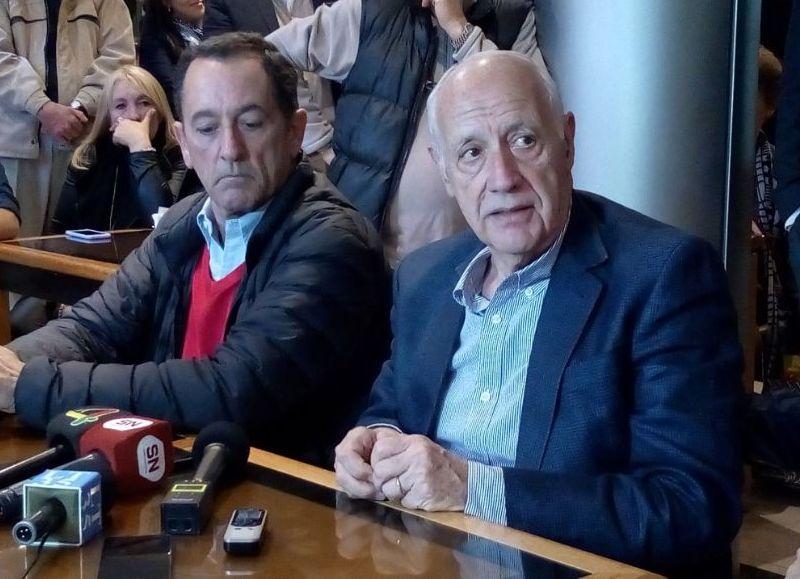 Héctor Gutiérrez y Roberto Lavagna.