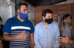 Daniel Arroyo visitó la ciudad, y recorrió emprendimientos de Barrios de Pie - Libres del Sur