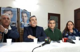 El precandidato a senador nacional durante su visita a Pergamino.