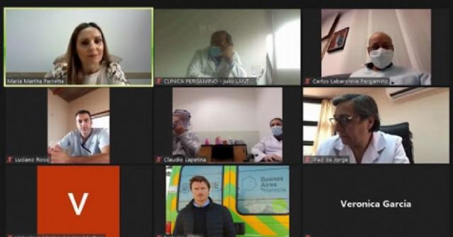 Videoconferencia de las autoridades.