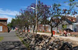 En el tramo comprendido entre las vías y calle España.