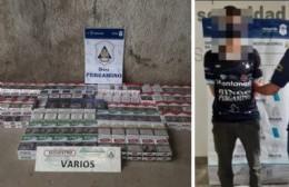 Cayó un joven de 19 años acusado de robar 1.200 atados de cigarrillos