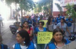 Barrios de Pie se movilizó hasta el Municipio