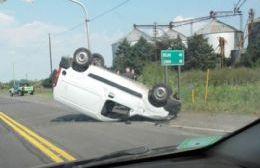 Así quedó la camioneta involucrada.