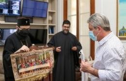 El arzobispo Santiago El Khoury se reunió con Javier Martínez