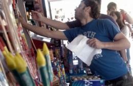En la ciudad se habilitaron cuatro comercios para vender pirotecnia