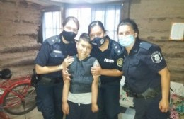 Buen gesto de la Policía: cumplieron el sueño a un niño en su cumpleaños
