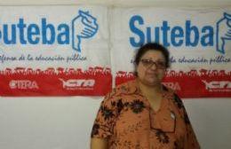 María Luisa Mazzola, referente del SUTEBA local.