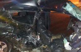 Así quedó el vehículo de la víctima.