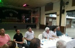 El empresario frigorífico, Alberto Samid, arribó a San Nicolás para participar de un encuentro con militantes.