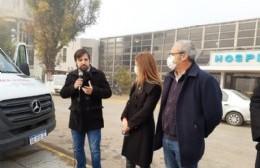 Kreplak visitó el Hospital y el Centro Oncológico