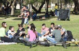 Parque España se viste de fiesta para recibir a la primavera