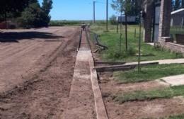 Nuevas cuadras de cordón cuneta en El Socorro