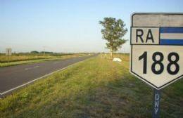 Ampliación hacia el norte de la Ruta 188.