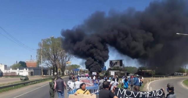 Protestas con corte de ruta por reclamo habitacional