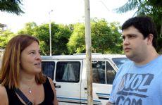 Gisela Cerminara y Ezequiel Saccani.
